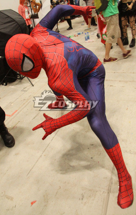 Marvel Halloween Cosplay The Amazing Spiderman 2 Cosplay Costume 3D Impression Pattan Spider-Man Costume None