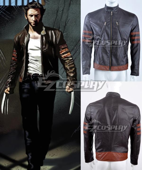 Marvel X men X-men Wolverine Logan Huge Jackman Leather Jacket Cosplay Costume Coat