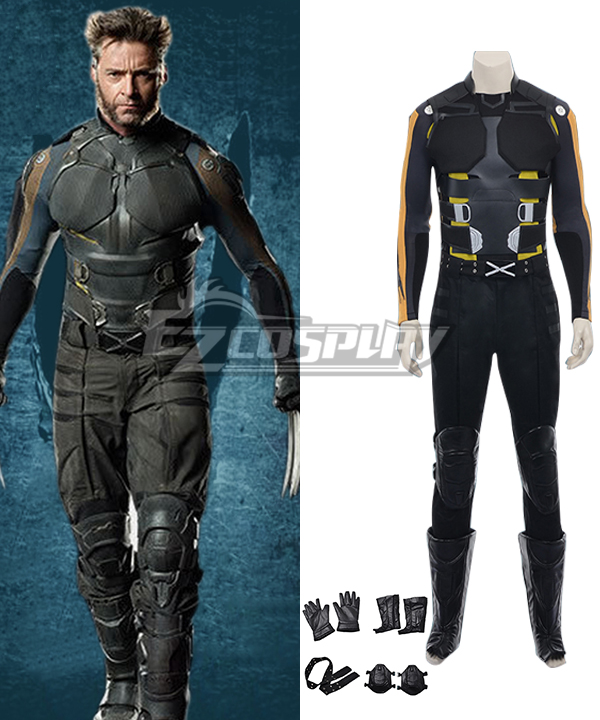 Marvel X-Men: Days of Future Past Wolverine Movie Battle Suit Cosplay Costume None