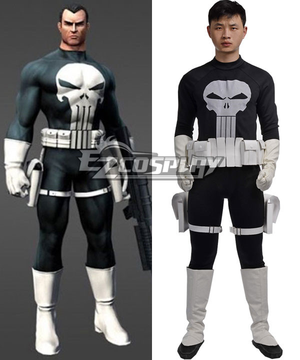Marvel The Punisher Frank Castle Punisher Cosplay Costume