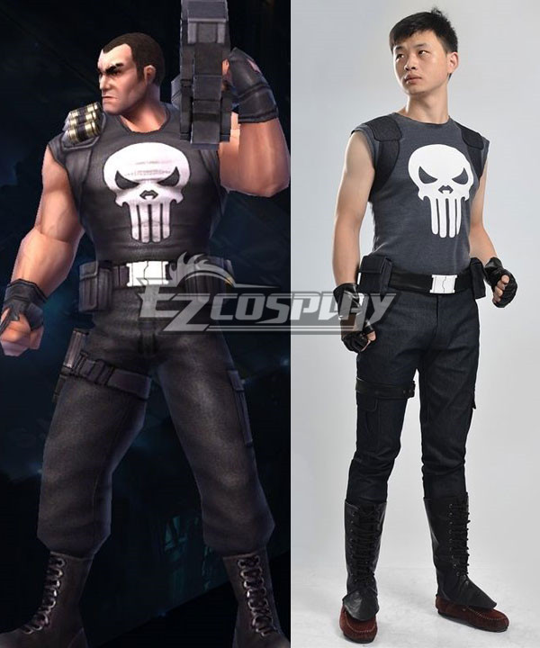 Marvel The Punisher Frank Castle Punisher Black Cosplay Costume None