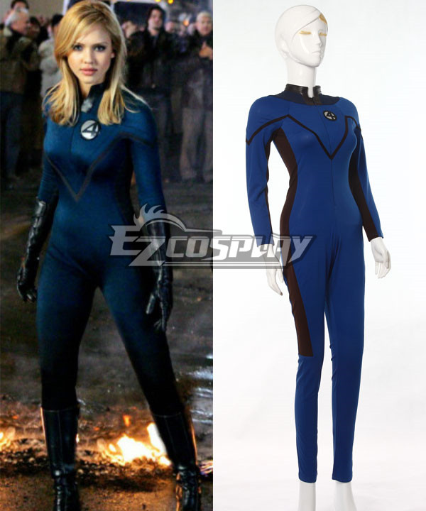 Marvel Fantastic Four Invisible Woman Cosplay Costume