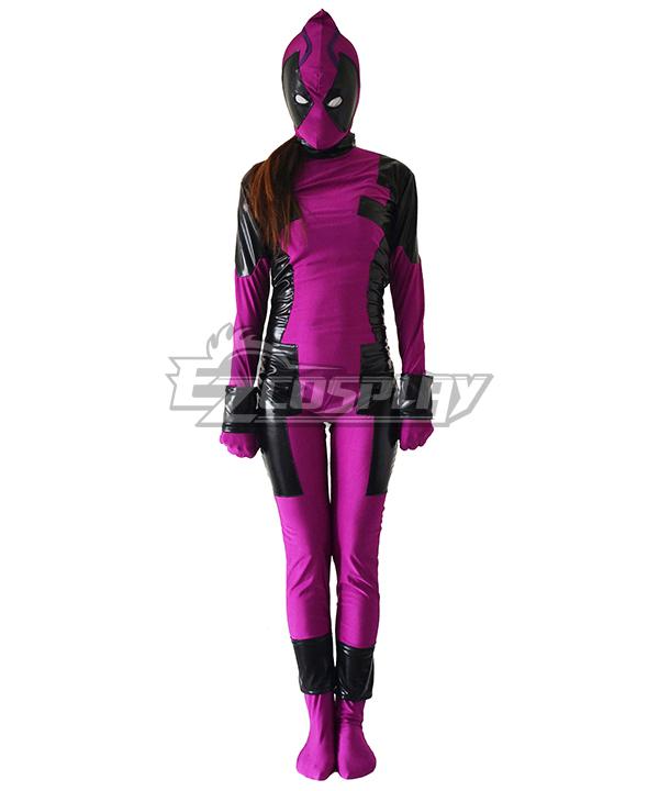 Marvel Female Deadpool Grape Zentai Cosplay Costume
