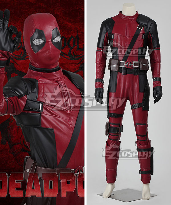 Authentic deadpool costume high quality diy cosplay suit w mask marvel deadpool wade wilson cosplay costume deluxe version solutioingenieria Choice Image