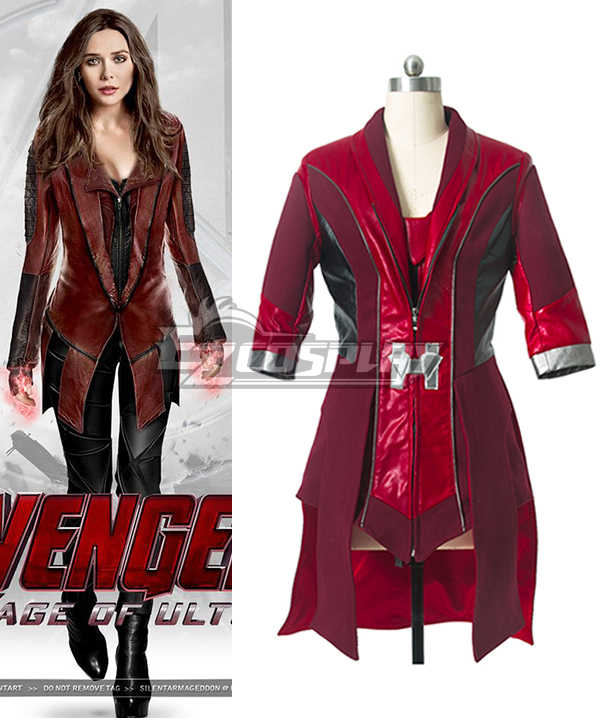 Marvel Avengers: Age of Ultron Scarlet Witch Jacket Cosplay Costume EMAV053