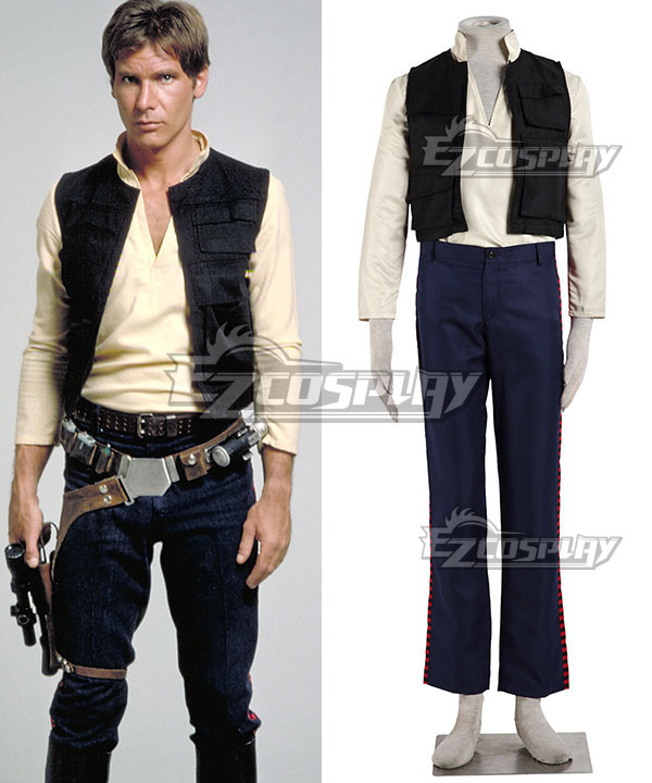 Star Wars Episode VII The Force Awakens Han Solo Cosplay Costume None
