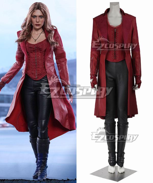 EMAV070 Marvel Captain America Civil War Scarlet Witch Wanda Maximoff Cosplay Costume