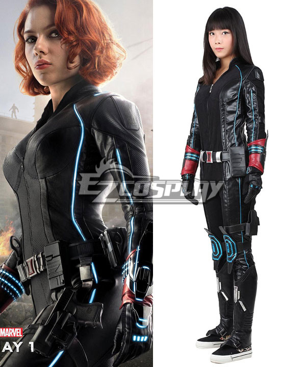 Marvel's The Avengers 2 Age of Ultron Black Widow Natasha Romanoff Cosplay Costume-Version 2 None