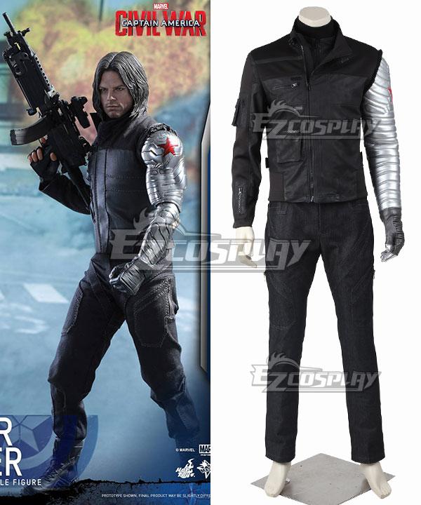EMAV076 Marvel Captain America Civil War Winter Soldier James Buchanan Bucky Barnes Cosplay Costume