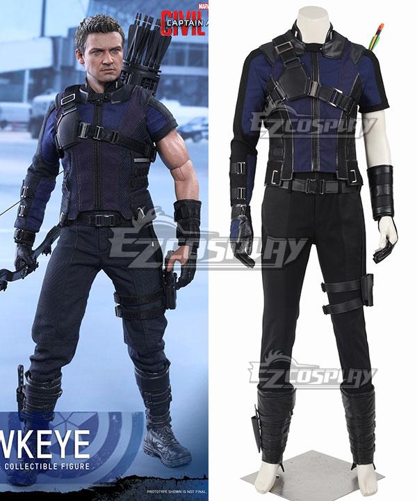 EMAV078 Marvel Captain America Civil War Hawkeye Clinton Francis Barton Blue Cosplay Costume