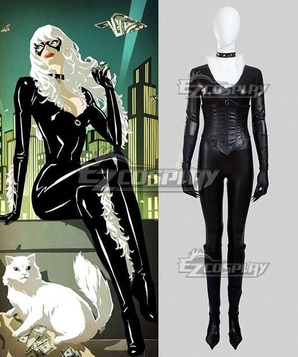 Marvel The Amazing Spider-Man Spider Man SpiderMan Black Cat Felicia Hardy Cosplay Costume None