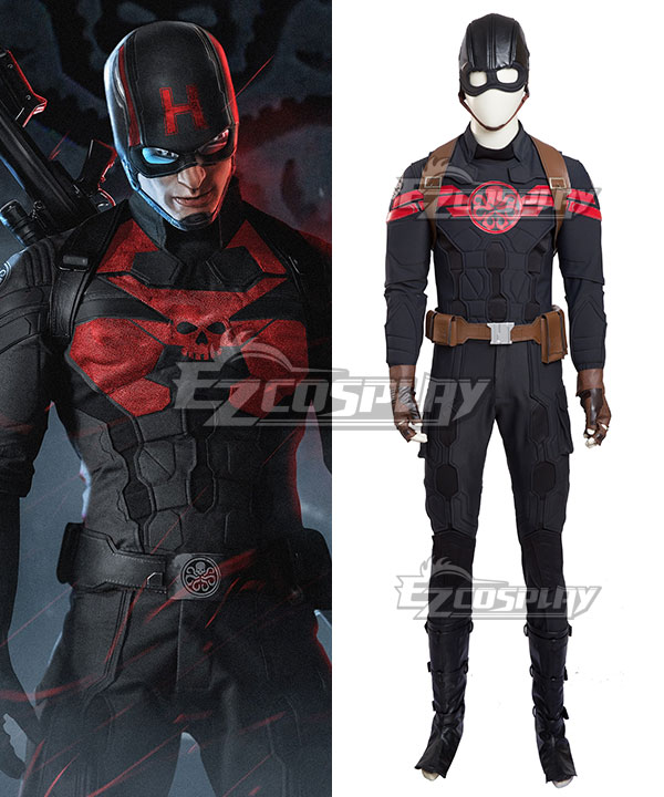 Marvel Captain America Hydra Cosplay Costume None