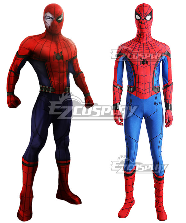 Marvel Spider-Man:Homecoming Spider-man Spider man Superhero Peter Parker Halloween Cosplay Costume - No Boots None