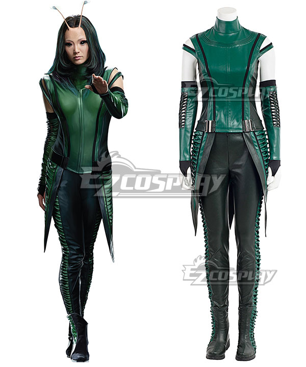 Anime Costumes EMAV116 Marvel Guardians of the Galaxy Vol. 2 Mantis Cosplay Costume (No Boot and New Edition)