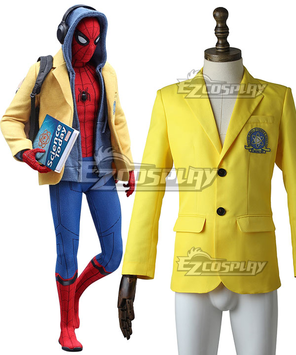 Marvel Spider-Man:Homecoming Spider-man Superhero Peter Parker Coat Cosplay Costume None