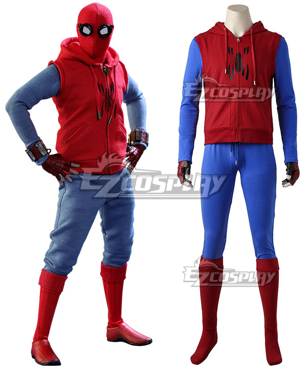 Marvel Spider-Man:Homecoming Spider Man Superhero Peter Parker Red Cosplay Costume None