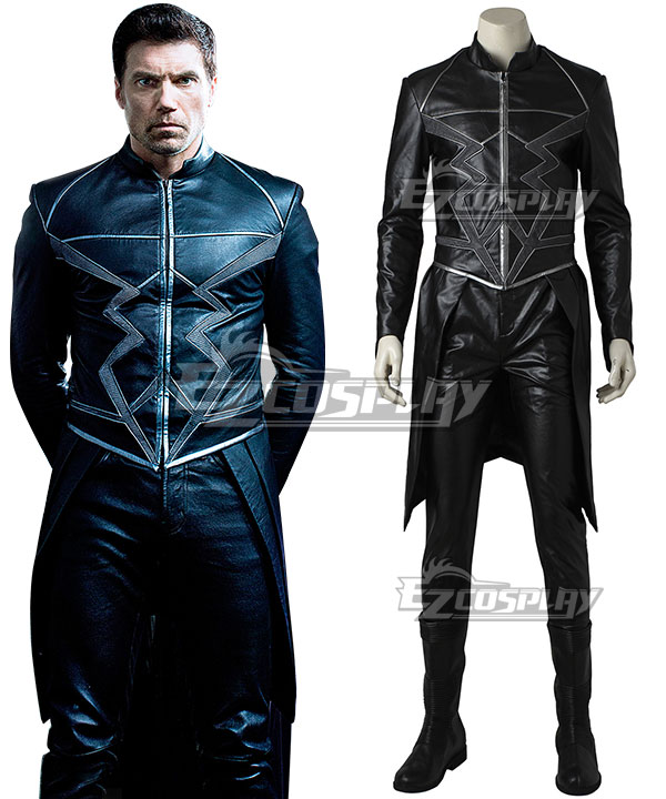 Marvel Inhumans Black Bolt Blackagar Boltagon Cosplay Costume (No Boots) None