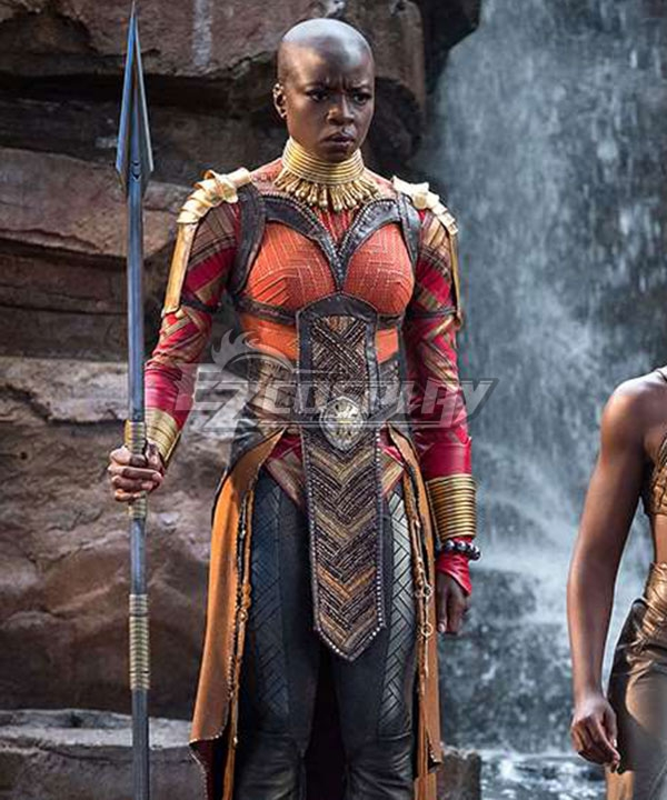 Marvel Black Panther 2018 Movie Okoye Cosplay Costume None