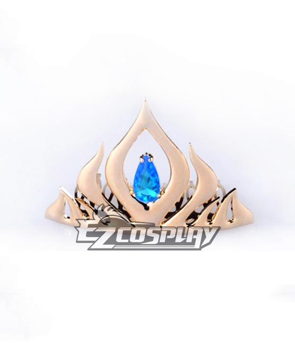 Frozen Elsa Snow Queen Disney Coronation Dress Metal Cosplay Accessories None