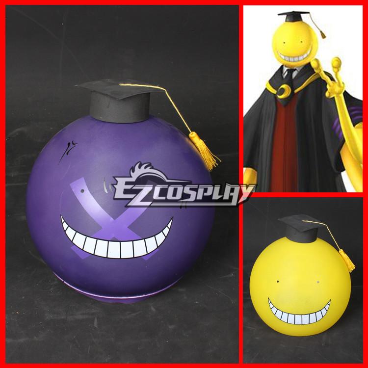 Assassination Classroom Korosensei Cosplay Purple Mask Helmet + Hat