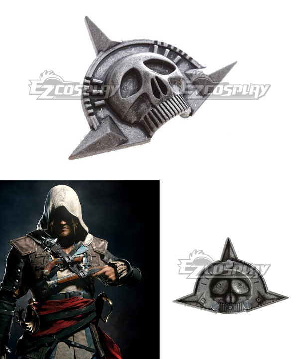 Assassins Creed 4:Black Flag Cosplay Accessories Skull Brooch None