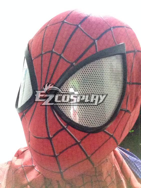Marvel The Amazing Spiderman 2 Spider-Man Peter Benjamin Parker Mask Head Cap Halloween Cosplay Accessory Prop None