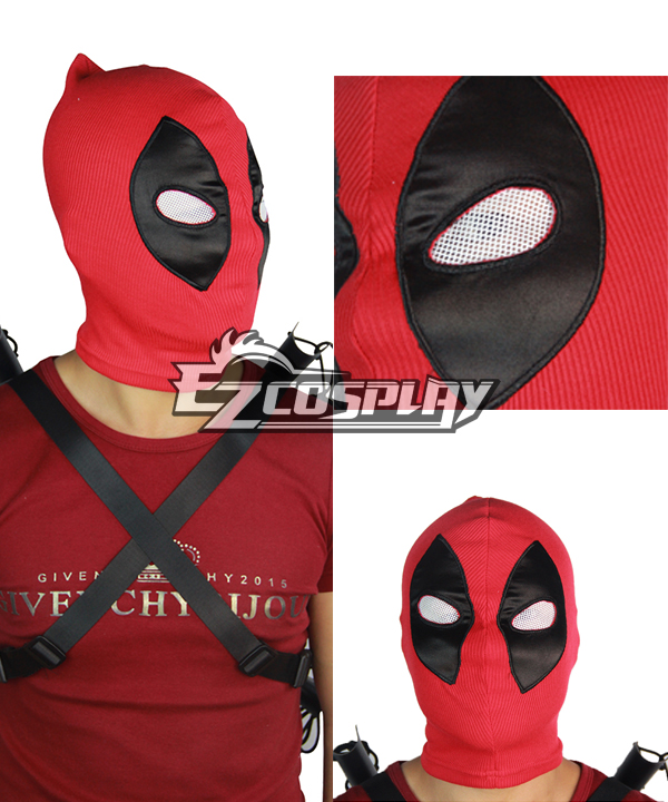 Marvel Halloween Deadpool Lycra Hoods Mask Cosplay Accessory Prop None