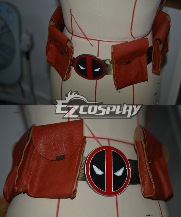 Marvel Halloween Deadpool Cosplay Accessory Belt with bags