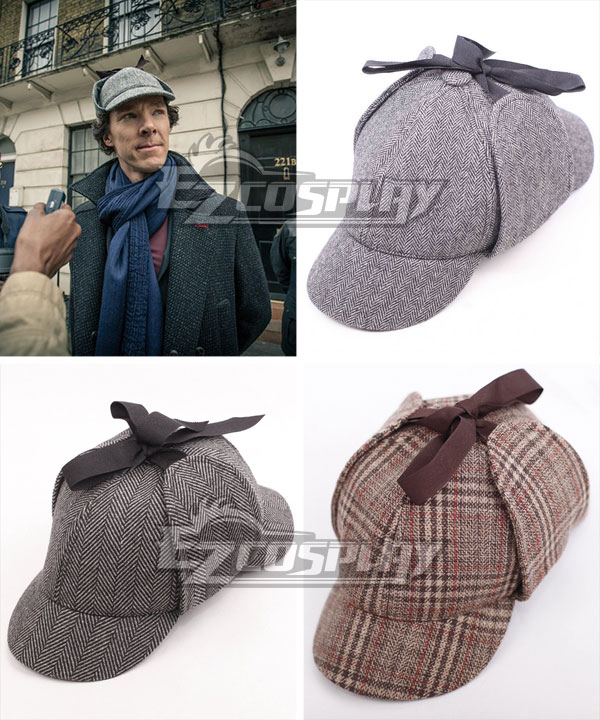 Sherlock The Abominable Bride Sherlock Holmes Deerstalker Hat Cosplay Accessory Prop SLK02 None