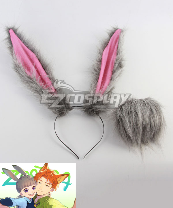Disney Zootopia Officer Judy Hopps Ears and Tail Cosplay Accessory Prop None