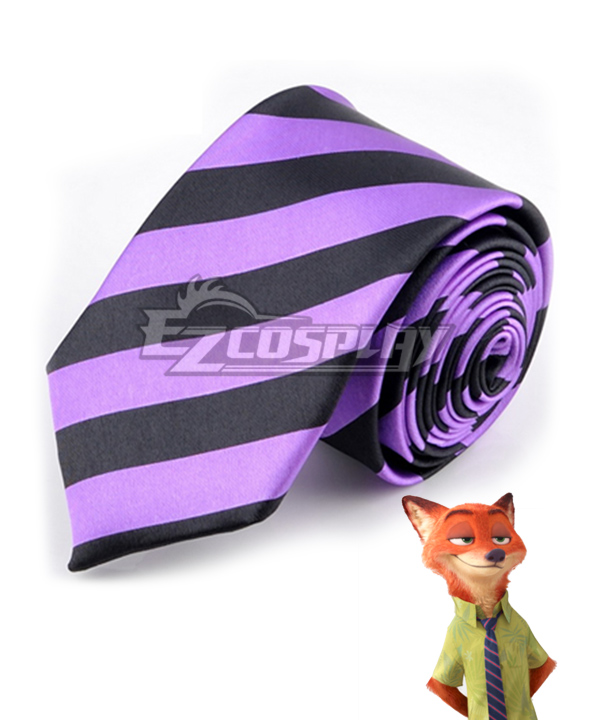 Disney Zootopia Nicholas P. Wilde Fox Nick Tie Cosplay Accessory Prop None