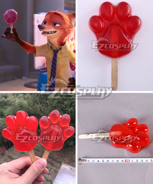 Disney Zootopia Nicholas P.Wilde Fox Nick Fox Claw Popsicles Cosplay Accessory Prop None