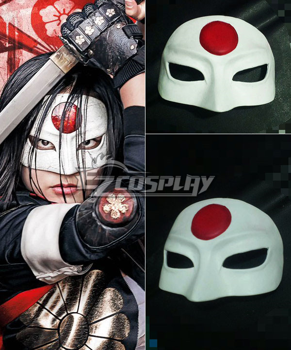 ENA0248 DC Comic Suicide Squad Katana Cosplay Mask