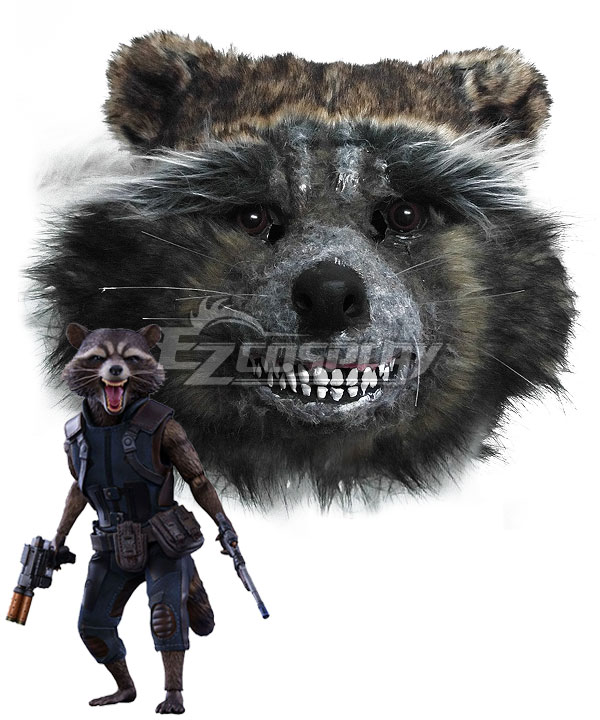 Guardians of the Galaxy Vol. 2 Rocket Raccoon Mask Cosplay Accessory Prop None