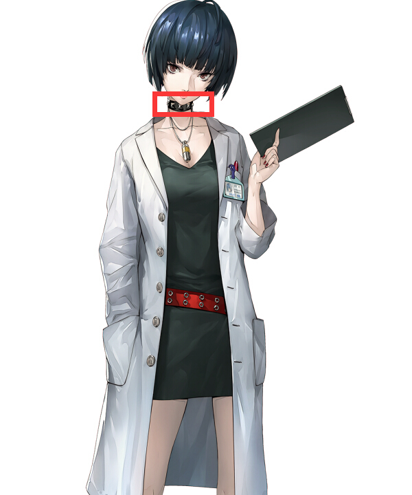 Anime Costumes ENA0399 Persona 5 Tae Takemi Neck Collar Cosplay Accessory Prop