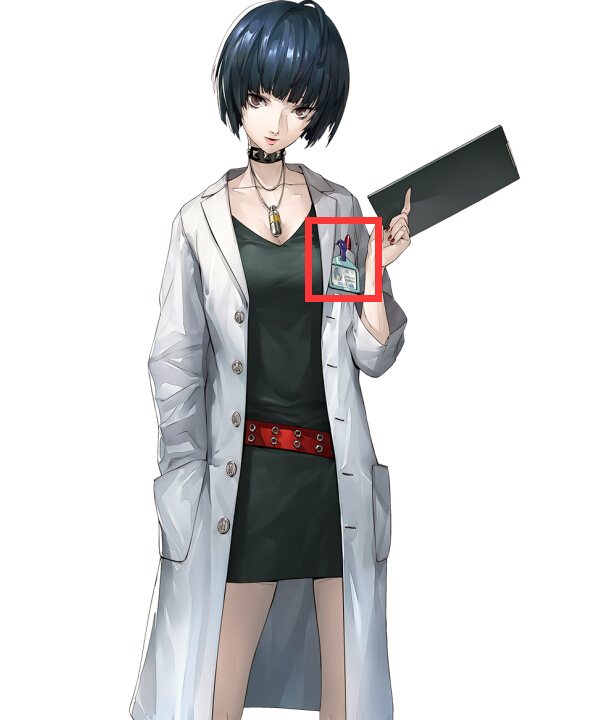 Anime Costumes ENA0400 Persona 5 Tae Takemi Name Tag Cosplay Accessory Prop