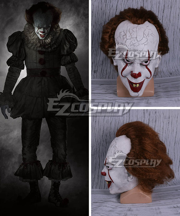 It 2017 Movie Pennywise Mask Halloween Cosplay Accessory Prop None