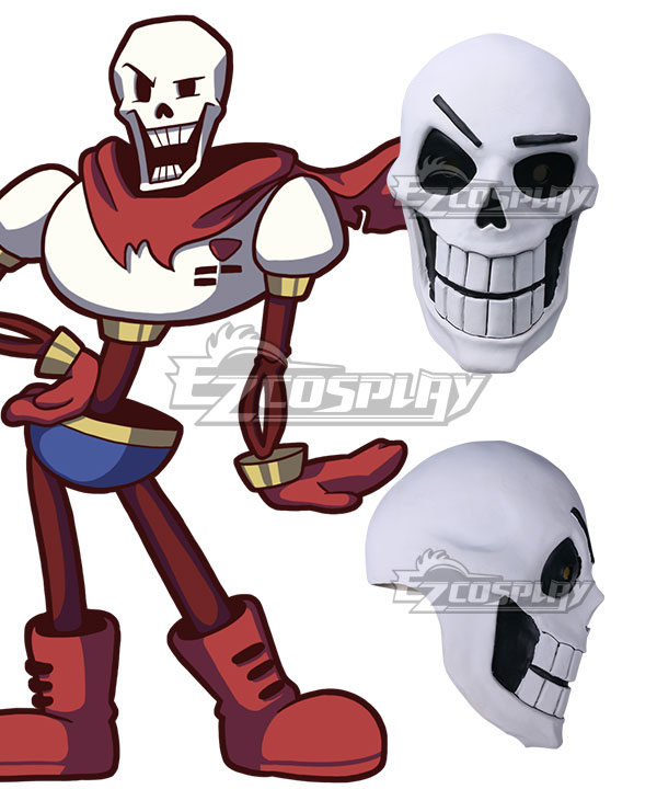 Undertale Papyrus Mask Halloween Cosplay Accessory Prop None