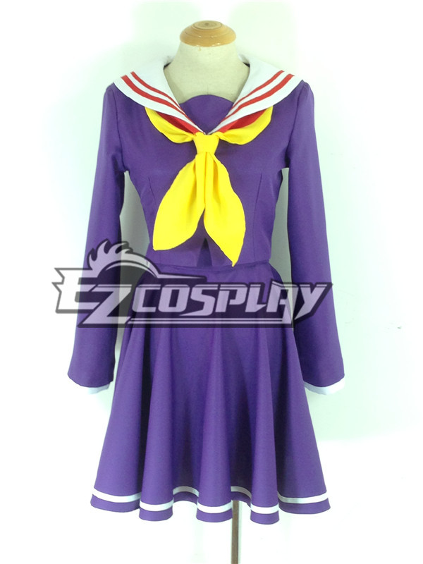 No Game No Life Shiro Purple Cosplay Costume None