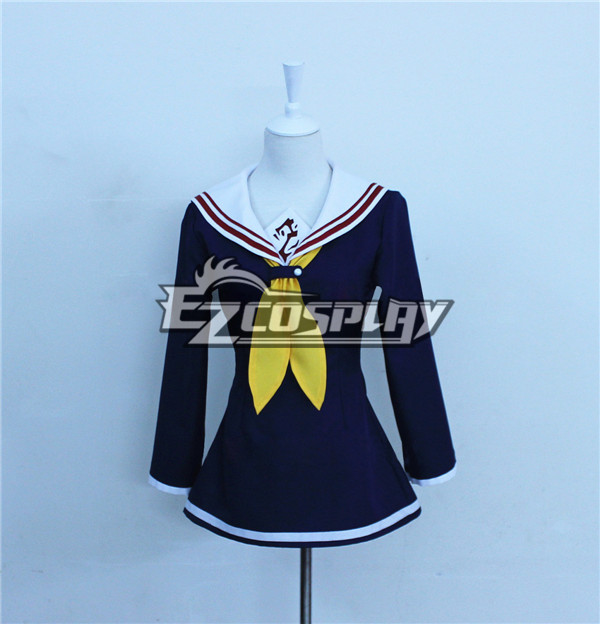 No Game No Life Shiro Dark Blue Cosplay Costume None
