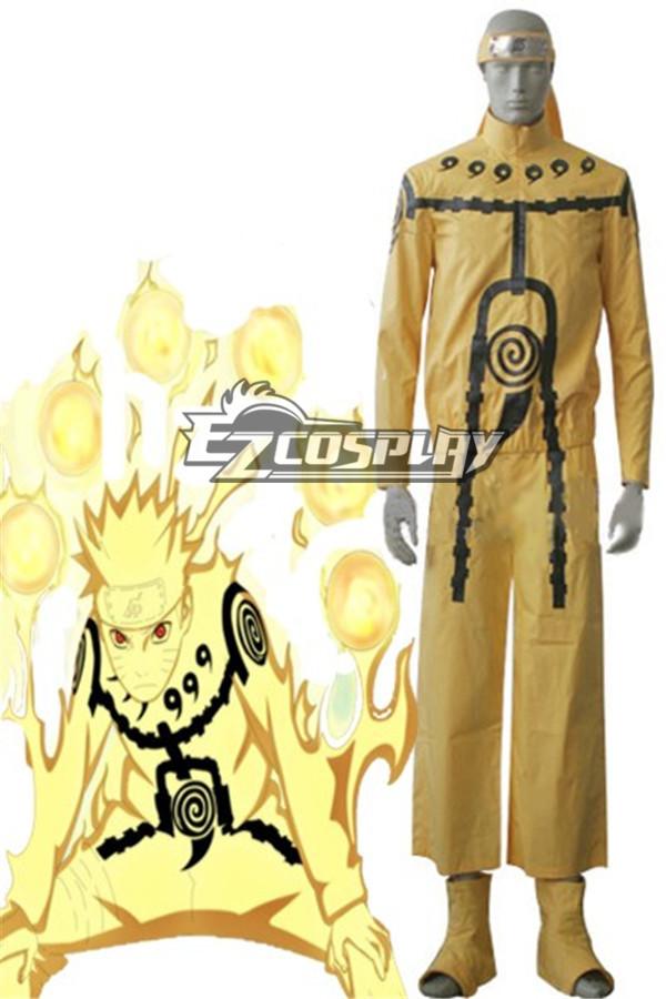 Naruto Uzumaki Nine-Tails Chakra Mode Cosplay Costume