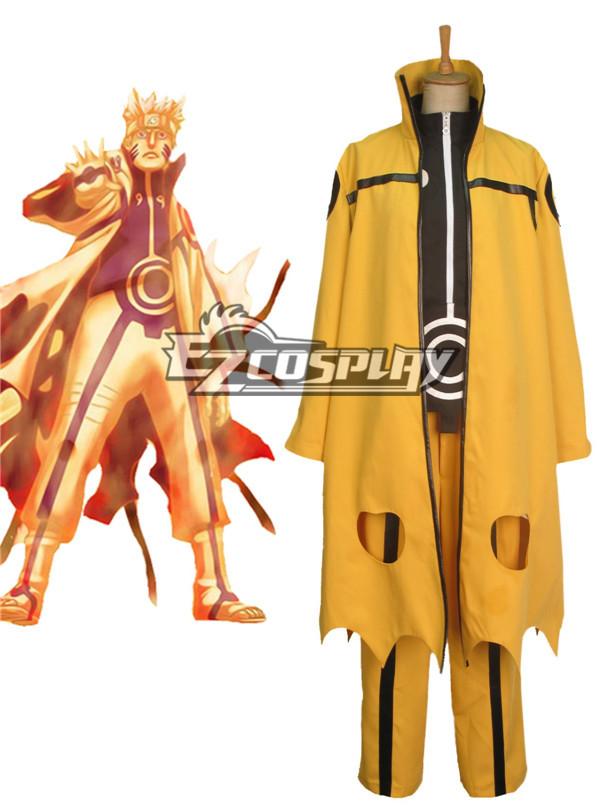 Naruto Uzumaki Naruto Nine-Tails Bijuu Mode Cosplay Costume