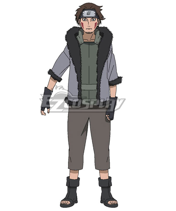 Naruto Shippuuden Inuzuka Kiba 1st Adult Children Cosplay Costume Set New