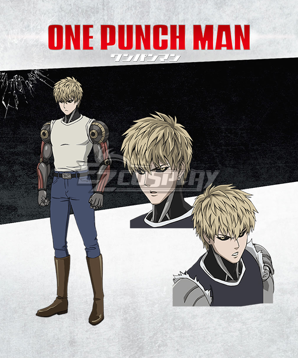 One Punch Man Genos Demon Cyborg Oni Saibogu Cosplay Costume
