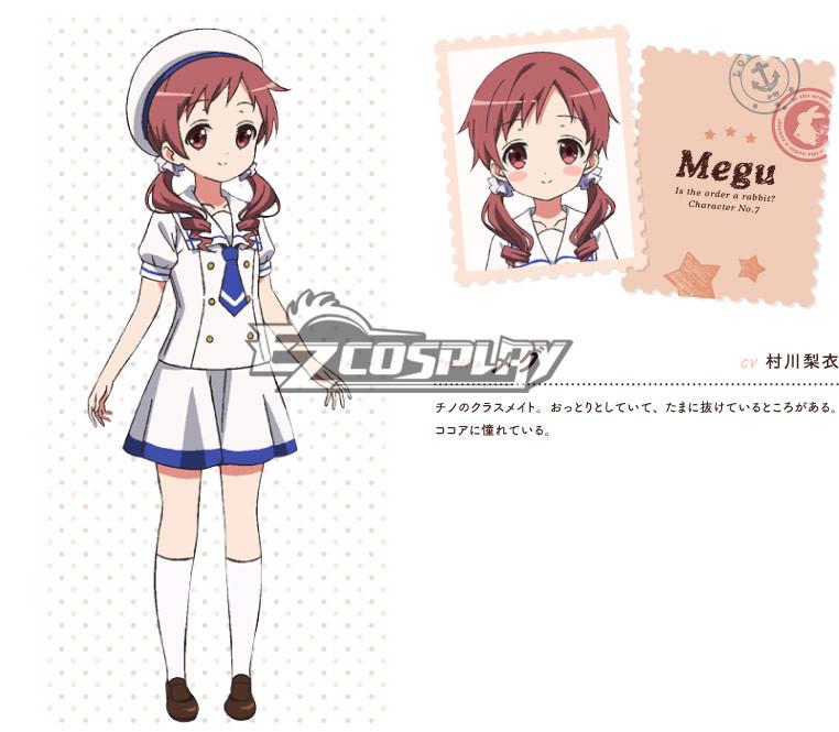 Gochuumon wa Usagi Desu ka? Is the Order a Rabbit? Megumi Natsu Cosplay Costume None