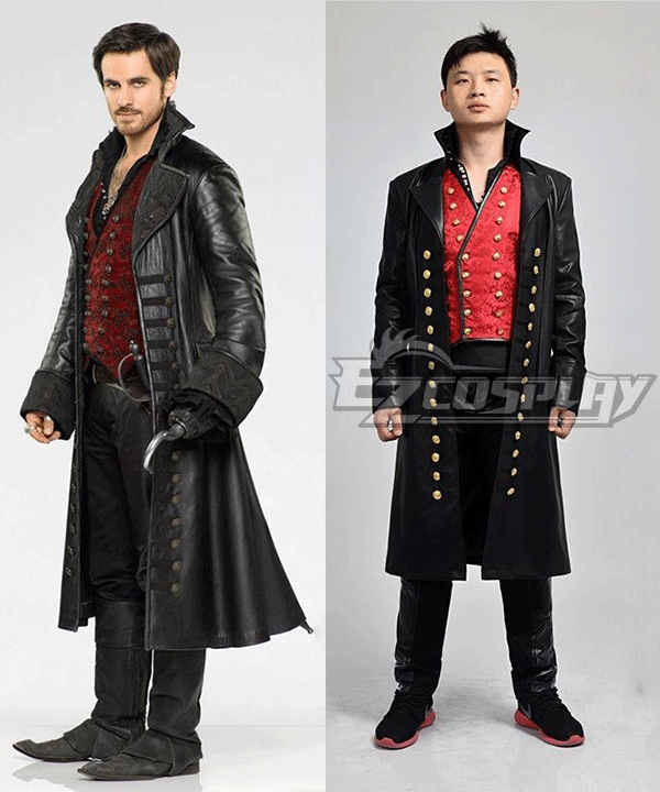 Once Upon a Time Captain Hook Cosplay Costume EOU001