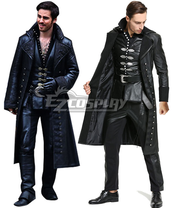 Once Upon A Time Captain Hook Hooker Cosplay Costume EOU003