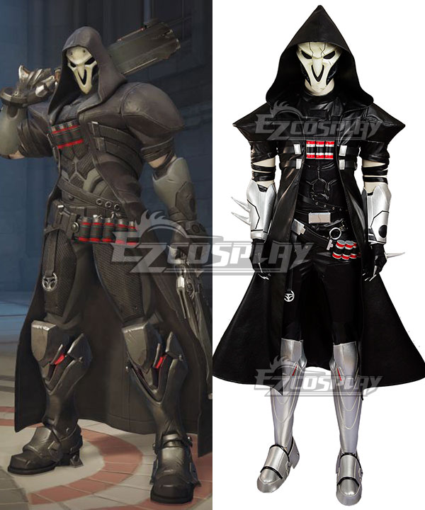 EOWG015 Overwatch OW Reaper Gabriel Reyes Cosplay Costume(No Mask)
