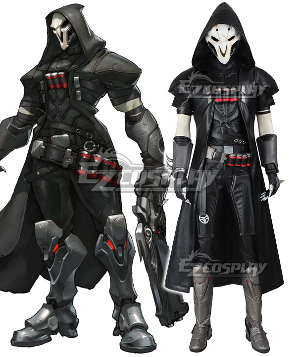 EOWG016 Overwatch OW Reaper Gabriel Reyes Cosplay Costume(Including Boots)