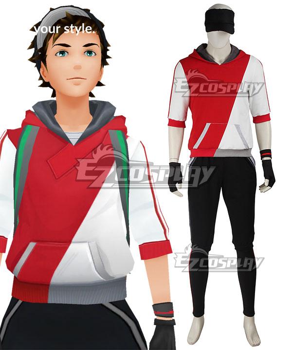 pok233mon go pokemon pocket monster trainer male red cosplay